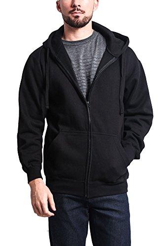 Black Zipper Hoodie - 6