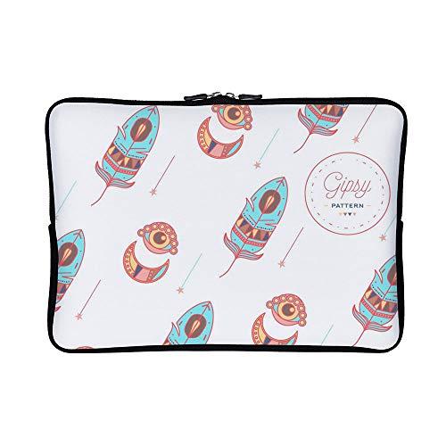 DKISEE Gipsy Pattern Neoprene Laptop Sleeve Case Waterproof Sleeve Case Cover Bag for MacBook/Notebook/Ultrabook/Chromebooks