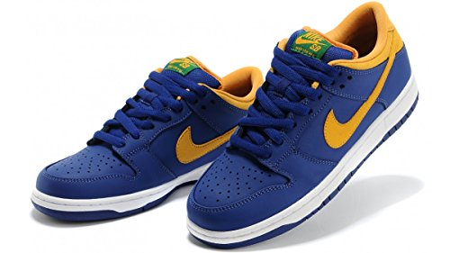 Nike Sb Dunk Low Pro - Deep Royal Blue/gold/pine Green Sz 5