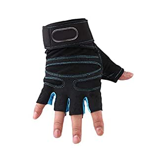 Amazon.com : NuoEn Fitness Gloves Male Lady Fitness Half
