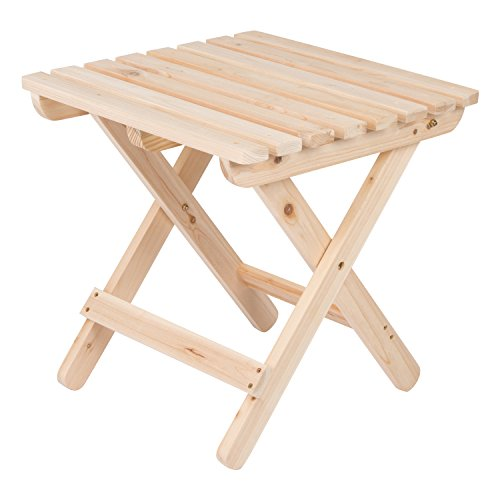 Shine Company Inc 4109N Adirondack Square Folding Side Table, Natural