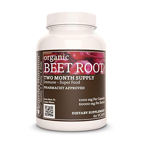 Beet Root Remedys Nutrition MEGA STRENGTH Organic Vegan 1000 mg / 60000 mg pr bottle vcaps (Beta Vulgaris)