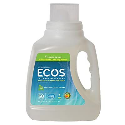 Earth Friendly Products ECOS Laundry Detergent, Lemongrass 50 fl oz (1478.5 ml)