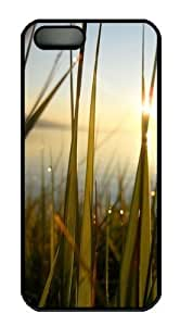 Grass At Dawn PC Case Cover for iPhone 5 and iPhone 5s Black