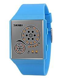 Mastop Unisex Watches Digital Sport Binary Led Watch Band 50M Waterproof Wristwatch