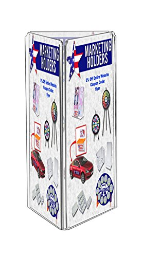 Marketing Holders Three Sided Counter Top Ad Print and Menu Holder Ad Frame Literature Frame Stand 3 Panel 4''w x 9''h Qty 18 by Marketing Holders (Image #1)