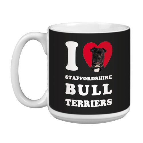 Tree Free Greetings XM29126 I Heart Staffordshire Bull Terriers Artful Jumbo Mug, 20-Ounce, ()