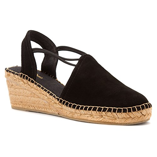 Pons Black Women's Suede Tremp Sandals Toni p0HnRn