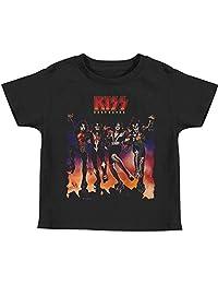 KISS Hard Rock Metal Band Rock N' Roll Music Destroyer Album Art Little Boys Tee