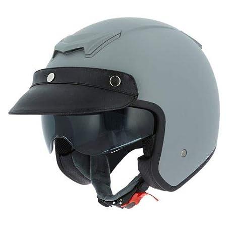 Casque moto jet vintage Astone Helmets Casque jet casquette avec en cuir Casque jet n/éo r/étro matt brown metallic grey XL Casque jet Sportster 2 mono color Coque en polycarbonate