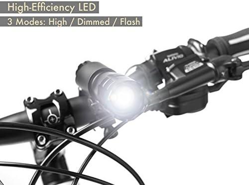 Mountain Bike MTB Bicycle LED Front Warning Light Headlight Flashlight Lamp D