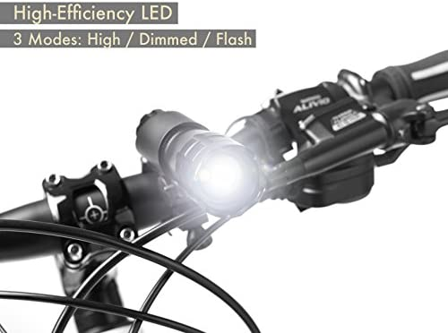 TeamObsidian Bike Light Set Super Bright LED Flashlight Bicycle Free Shipping