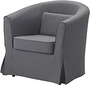 the dark gray ektorp tullsta chair cover replacement is custom made for ikea tullsta. Black Bedroom Furniture Sets. Home Design Ideas