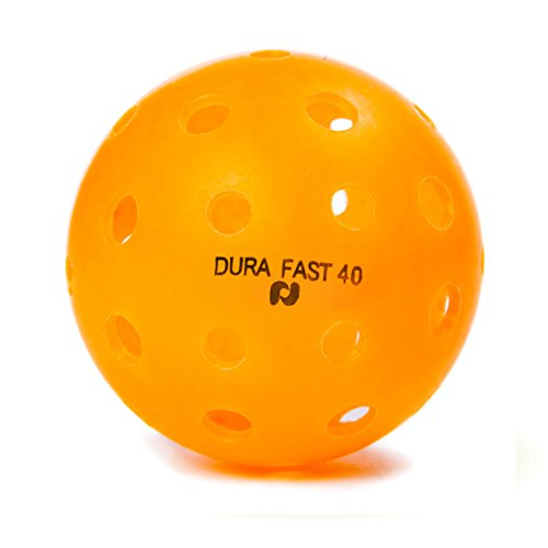 Dura Fast 40 Outdoor Pickleball Balls, Orange, Pack of 6, USAPA Approved for Tournament Play, High Performance Sanctioned Professional Pickleballs