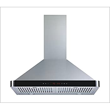 wall mount stainless steel convertible kitchen range hood air flow touch control baffle filters ultra bright exhaust cleaning companies commercial hoods melbourne