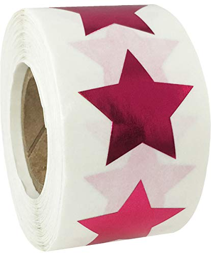 Metallic Rose Star Shape Stickers 1 Inch 500 Adhesive Labels]()