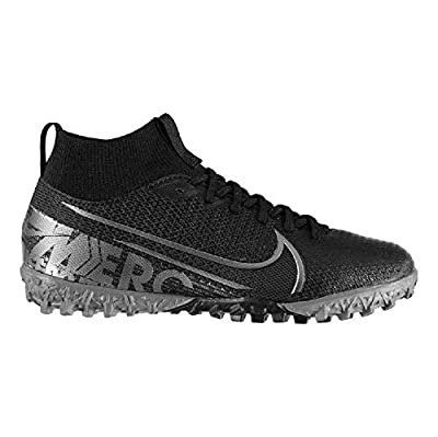 Nike Youth Mercurial Superfly VII Academy Turf Soccer Shoes (4) Black