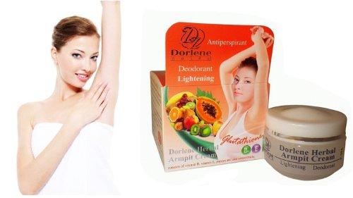 10 G. Whitening Glutathione Herbal Armpit Cream Lightening Deodorant X 2 Packs