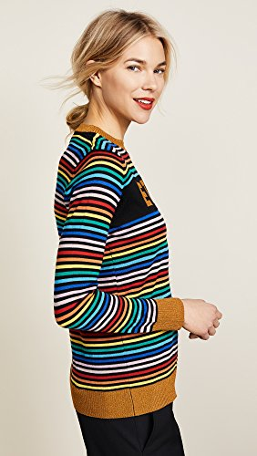 Etre Cecile Women's Etre Boyfriend Crew Knit Sweater, Multi Stripe, Large by Etre Cecile (Image #4)