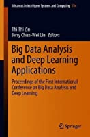 Big Data Analysis and Deep Learning Applications Front Cover