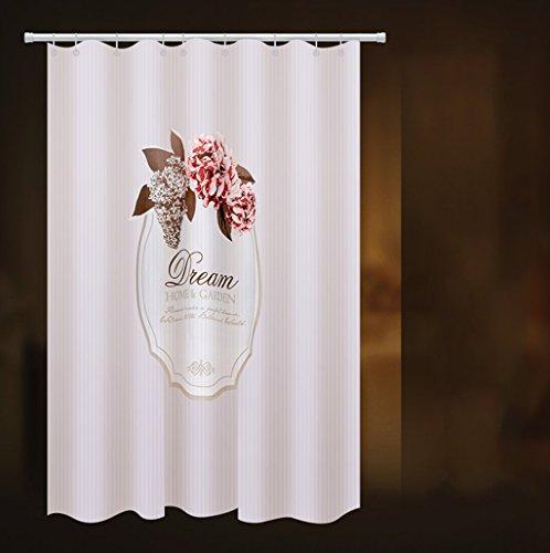 LQQ Mold Mildew Shower Curtain- Mildew Waterproof Shower Curtain, Thickened Set Free Punch, Toilet partition Curtain, Bathroom Curtain. -Cartoon Bathroom Curtain by LQQ (Image #1)