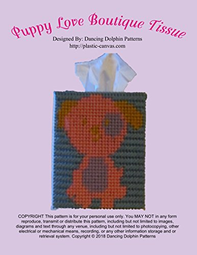 Puppy Love Boutique Tissue Cover: Plastic Canvas Pattern