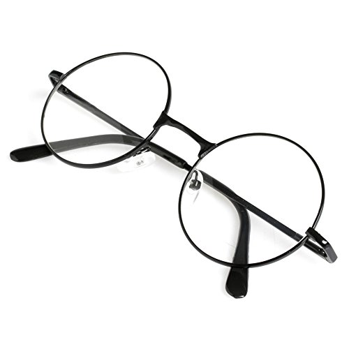 Doober Unisex Retro Round Presbyopic Reading Glasses Metal Frame Personality Eyeglass (black, - Eyeglass Frames Men Most For Popular