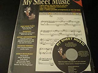 My Sheet Music Cd-Rom: Premier Series (0997322322)   Amazon Products