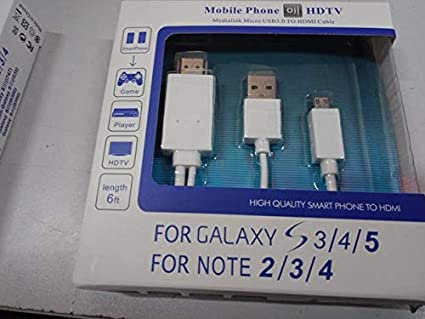 XuBa MHL a HDMI Adaptador Micro USB a HDMI 1080P HD TV Cable Adaptador para teléfonos Android Samsung Blanco Blanco: Amazon.es: Informática
