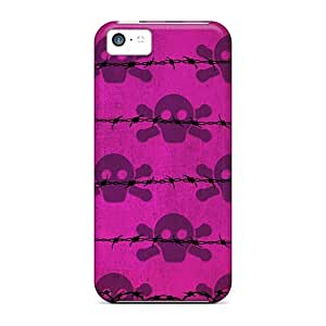 Protection Cases For Iphone 5c / Cases Covers For Iphone(i4 Skulls Pink)
