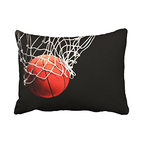 Tarolo Decorative Throw Pillow Cases Covers Fashionable Design Basketball Bed 20x26 Inches Cove Case Pillowcase Two Sided (Basketball Pillowcase)