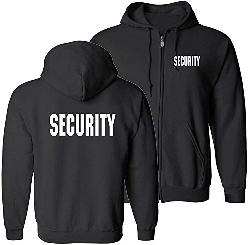 - Choice4ever 3M Reflective Security Hoodie Sweatshirt, Party Bouncer Hoodie, Security Guard Hoodie (Poly/Cotton) (White Reflective, Large)