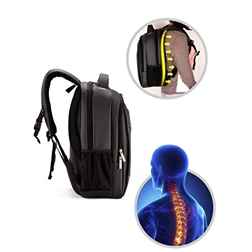 DOXUNGO Schulterbeutel der Männer, 18,5 Zoll Computer Rucksäcke, Geschäftstaschen, Schultasche, Reiserucksack mit großer Kapazität (braun) lila