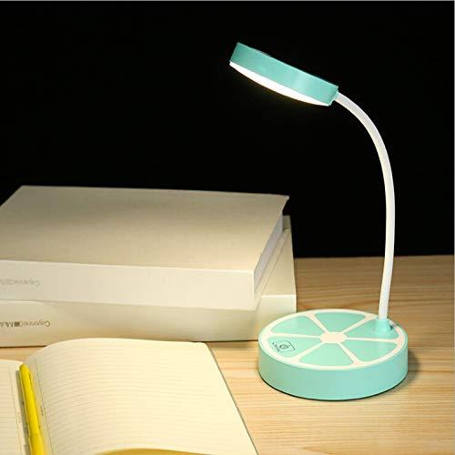 Ocamo LED Desk Lamp, Fruit Orange Shape Eye Protection Table Light for Study, Office, Reading Touch Three Dimming Night Light Decoration (Fruit Design Table Lamp)