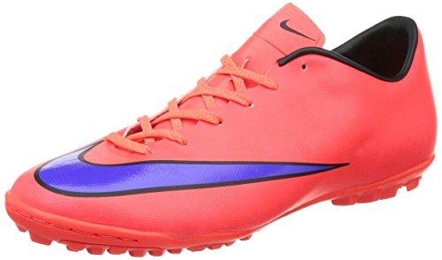 Nike Mercurial Victory V TF Botas de fútbol, Hombre Naranja / Morado Negro (Bright Crimson / Prsn Violet-Blk)