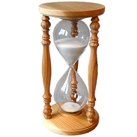 sand timer clock sandglass hourglass cherry wooden 60 min one hour