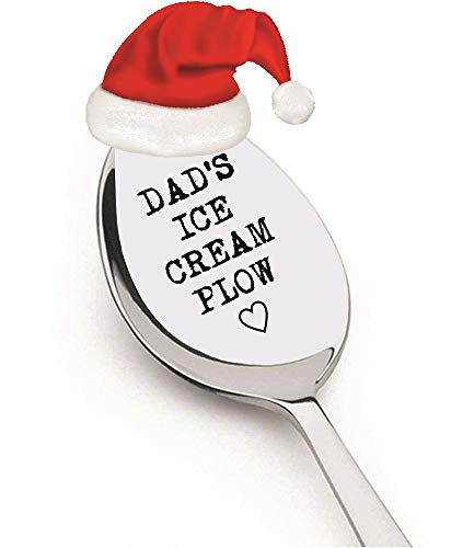 Outstanding Dad's Ice Cream Plow by Weenca-Sturdy Engraved Spoon-Perfect Gift for Beloved Dad who Adore Ice-Spoon Engraved by Laser Machine -