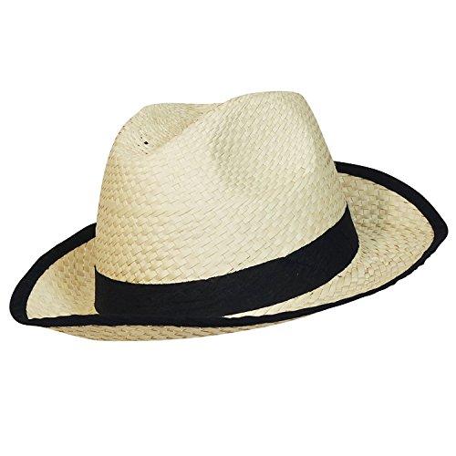 Chapeau-tendance - trilby style panama Madagascar - - Homme