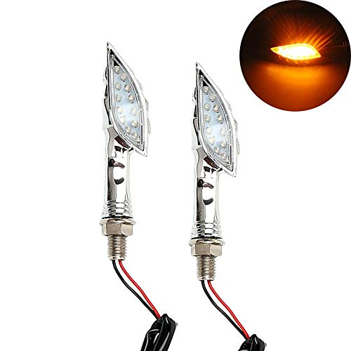 SalaBox-Accessories - 2pcs/Set Motorcycle Turn Indicators For Honda Yamaha Suzuki Kawasaki Moto Blinker Lamp LED Turn Signal Light Amber Skull Hand from SalaBox-Accessories