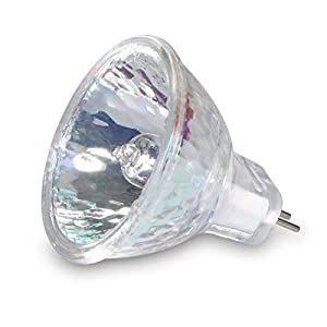 GMY MR11 Halogen Bulbs 12V 20W GU4 Bi-Pin Base Spotlight Dimmable Glass Cover 35mm Diameter Warm White 2800K 10 Pack