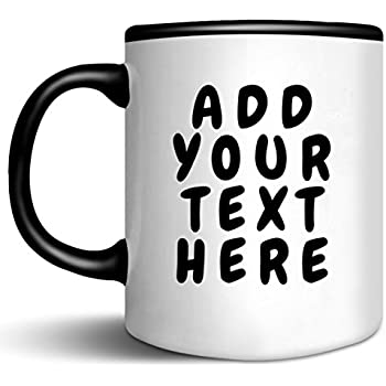 e35affc78b2 Custom Coffee Mugs - ADD YOUR NAME TEXT LETTERS - Personalized Ceramic Cups  - Monogram Novelty Mug
