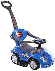 عربة ركوب قابلة للدفع للاطفال 3 في 1 للاستخدام في الأماكن المغلقة والاماكن الخارجية لون ازرق CRPL 620