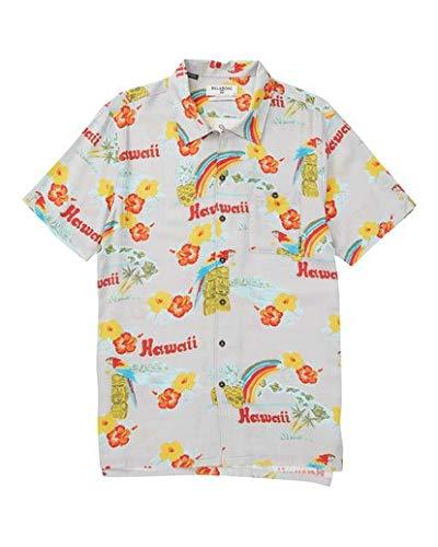 Billabong Men's Vacay Print Short Sleeve Woven Shirt, Sand L