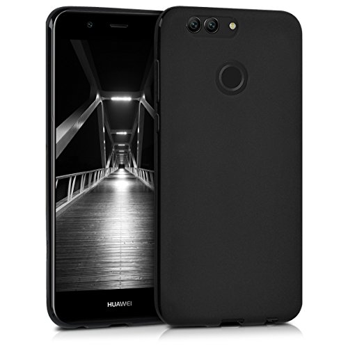 kwmobile Chic TPU Silicone Case for the Huawei Nova 2 Plus in black matte
