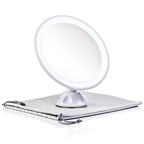 Keen Edge Home Magnifying Mirror with Light, Daylight LED Travel and Home Makeup Vanity Mirror, 7x Concave Rechargeable Portable (7 inches) ()