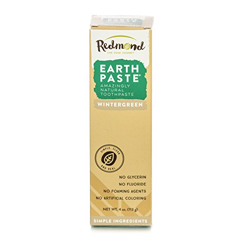 (REDMOND - Earthpaste All Natural Non-Fluoride Vegan Organic Non GMO Real Ingredients Toothpaste, Wintergreen, 4 Ounce Tube)