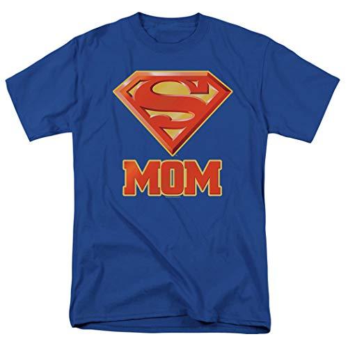 Superman Cape For Men (Superman Super Mom DC Comics T Shirt & Exclusive Stickers)