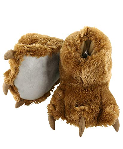 Inappropriate Costumes For Men - Brown Bear Paw Animal Paw Slippers for Kids and Adults by LazyOne