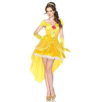 Princesa bella y la bestia tamano del traje de las senoras M ...