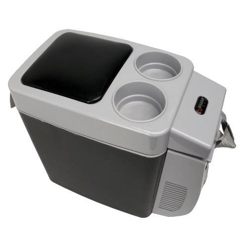 COMPACT CAR COOLER PERSONAL VEHICLE FRIDGE ICE BOX WARMER AUTO TRAVEL CAMPING Outside: 11 by 6 by 12 inches (H x W x D)